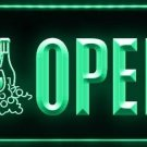 OPEN Wine Beer Shop Cafe Bar Pub LED Light Sign Bar Beer Pub Store