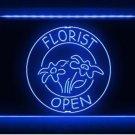 OPEN Florist Shop Flower Display LED Light Sign Beer Pub Store