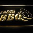 Fresh BBQ Logo Beer Bar Pub Decor Light Sign Neon