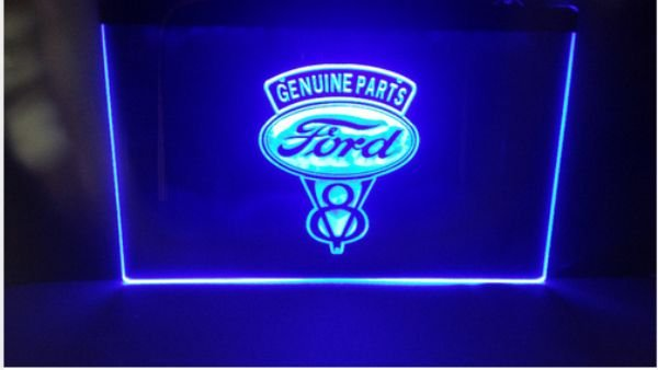 ford genuine parts Logo Beer Bar Pub Store Neon Light Sign Neon MAN CAVE
