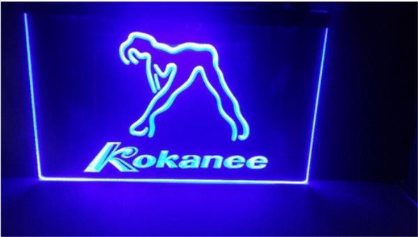 kokanee stripper girl beer bar pub club 3d signs LED Neon Light Sign man cave