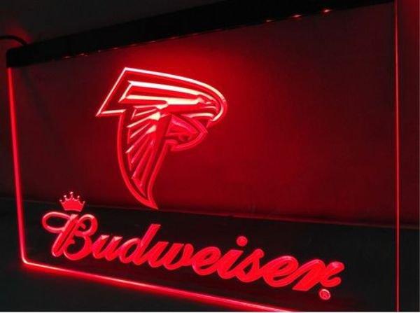 Atlanta Falcons Budweiser bar Beer pub club 3d signs LED Neon Sign man cave