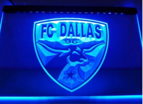 Fc Dallas bar Beer pub club 3d signs LED Neon Sign man cave