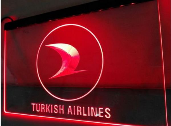 Turkish Airlines bar Beer pub club 3d signs LED Neon Sign man cave