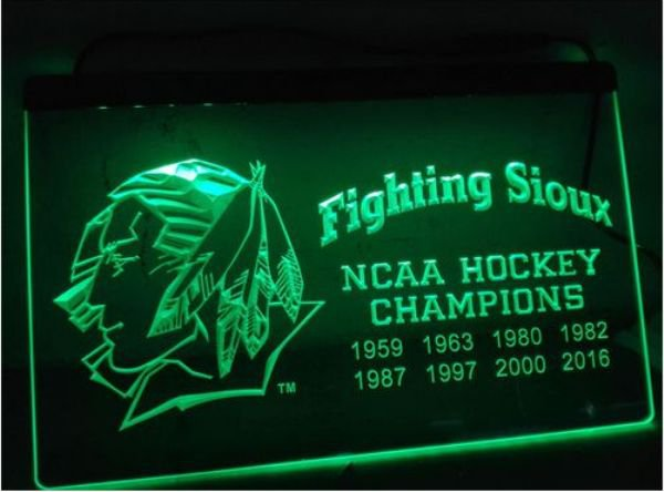 Fighting Sioux 2016 bar Beer pub club 3d signs LED Neon Sign man cave