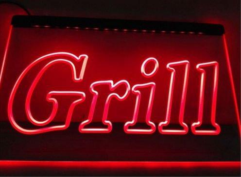 Grill OPEN Bar Pub BBQ NEW NR bar Beer pub club 3d signs LED Neon Sign man cave