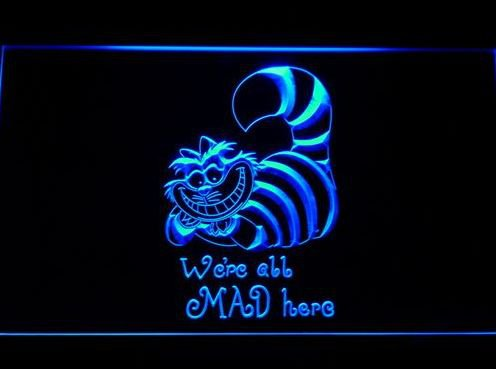 The Cheshire Cat Alice in Wonderland bar Beer pub club 3d signs LED Neon Sign man cave