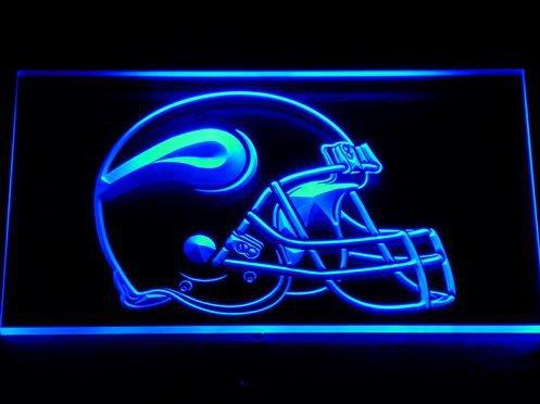 Minnesota Vikings Helmet bar beer pub club 3d signs LED Neon Sign man cave