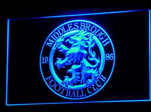 Middlesbrough bar beer pub club 3d signs LED Neon Sign man cave