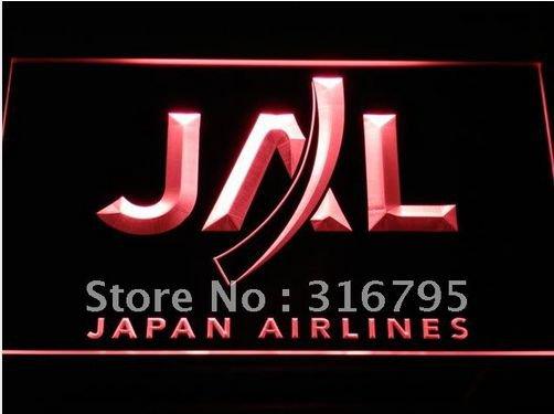 Japan Airlines logo Beer Bar Pub Light Sign Neon
