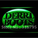 Derri Boots Fihsing logo Beer Bar Pub Light Sign Neon