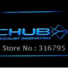 Chub Fishing logo Beer Bar Pub Light Sign Neon