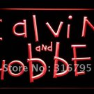 Calvin & Hobbes logo Beer Bar Pub Light Sign Neon