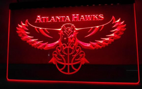 ATLANTA HAWKS bar beer pub club 3d signs LED Neon Sign man cave