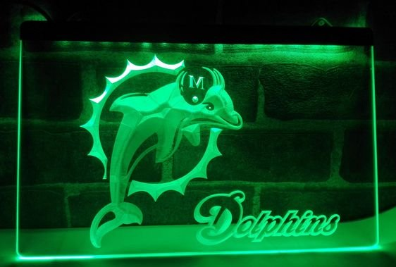 Miami Dolphins Badge bar beer pub club 3d signs LED Neon Sign man cave