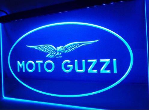 Moto Guzzi Motorcycle bar Beer pub club 3d signs LED Neon Sign man cave
