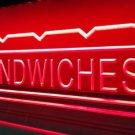 Sandwiches Logo Beer Bar Pub Store Light Sign Neon