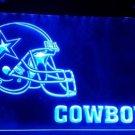 b-163 Dallas Cowboys Helmet logo beer bar pub 3d signs LED Neon Light Sign