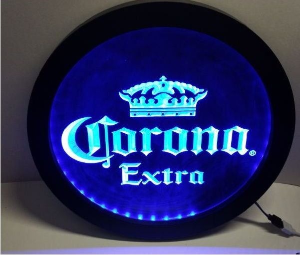 b42 Corona Extra RGB led MultiColor wireless control beer bar pub club neon light sign
