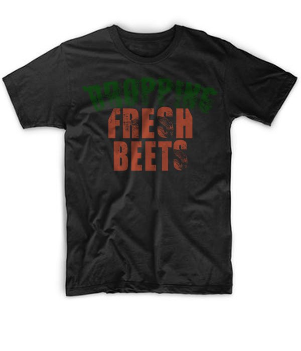 Black Men Tshirt Dropping Fresh Beets Black Tshirt For Men