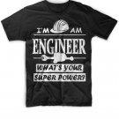 Black Men Tshirt I'm An Engineer Whats Your Super Power Black Tshirt For Men