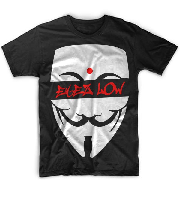 Black Men Tshirt Pharaoh Anonymous Eyez Low Black Tshirt For Men