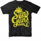 Black Men Tshirt Suns out, guns out shirt! Summer Black Tshirt For Men