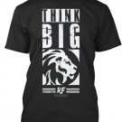 Black Men Tshirt Think Big Black Tshirt For Men
