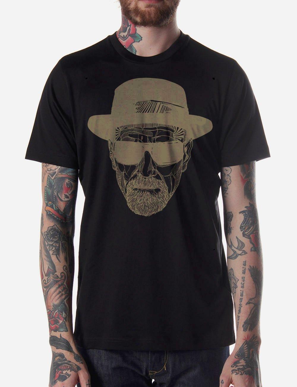 Black Men Tshirt Heisenberg Breaking Bad Head Black Tshirt For Men