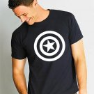 Black Men Tshirt Captain America, Superhero tshirt, Captain America logo tee Black Tshirt For Men