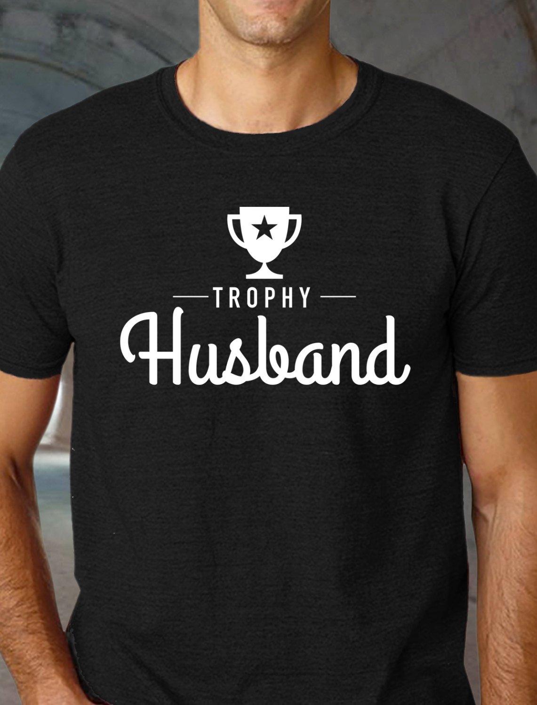 Black Men Tshirt Trophy Husband Black Tshirt For Men