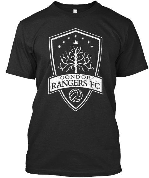 Black Men Tshirt Gondor Rangers FC Supporters Black Tshirt For Men