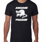 Black Men Tshirt Awesome Possum TShirt, Animal Sunglasses Black Tshirt For Men