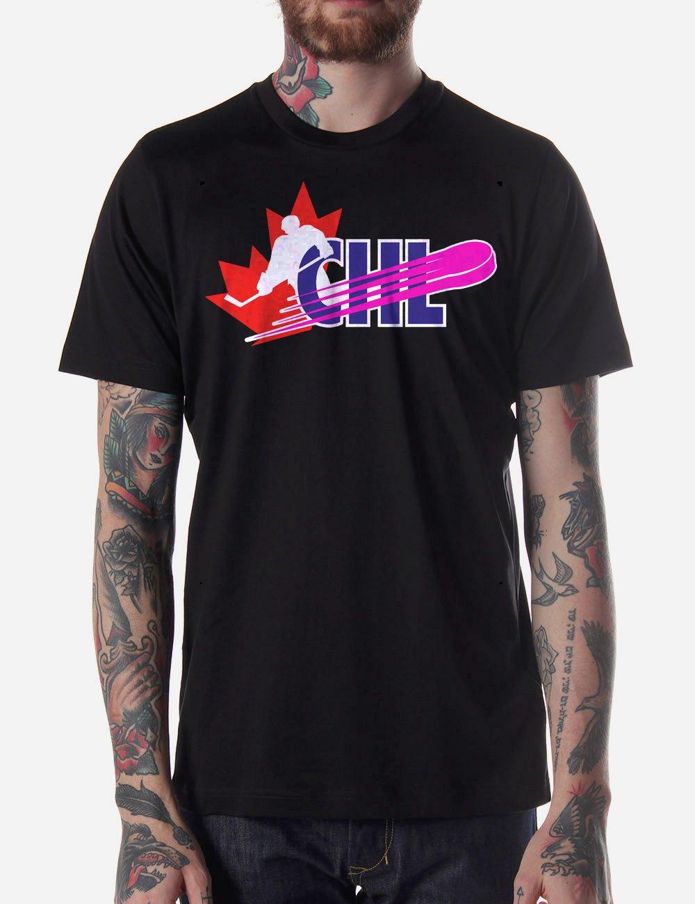 Black Men Tshirt Canadian Hockey League Black Tshirt For Men