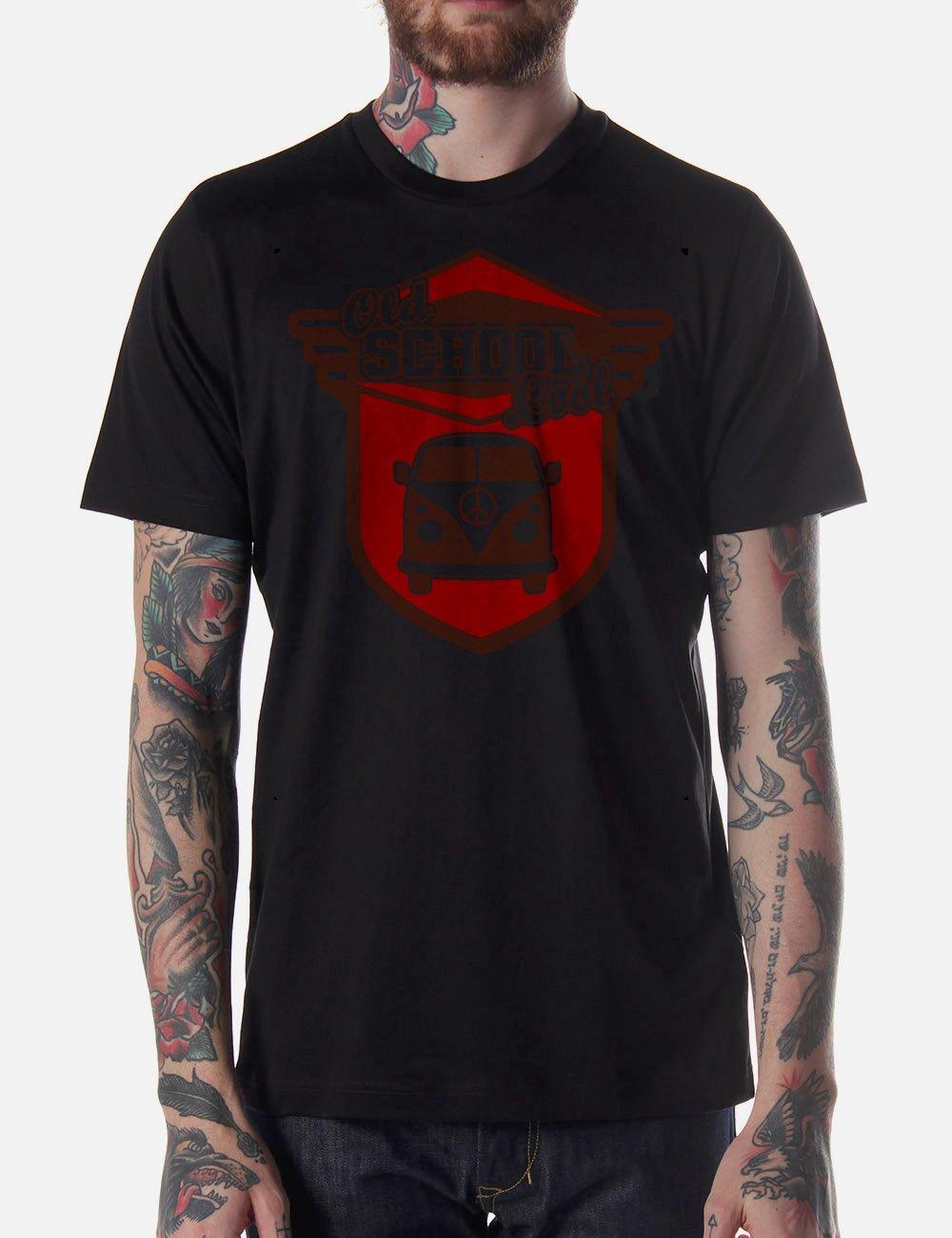 Black Men Tshirt cool old school Black Tshirt For Men