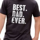 Black Men Tshirt Father's Day Gift Best Dad Ever Black Tshirt For Men