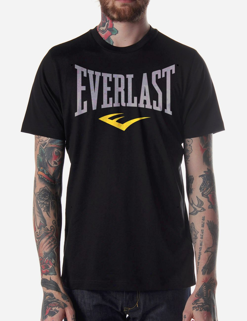 Black Men Tshirt EVERLAST Black Tshirt For Men