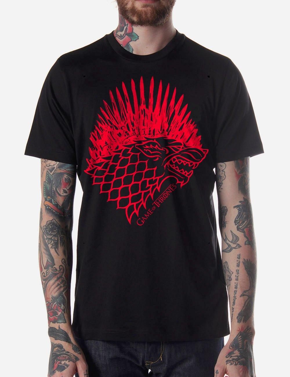 Black Men Tshirt Game Of Thrones Winter Coming Black Tshirt For Men