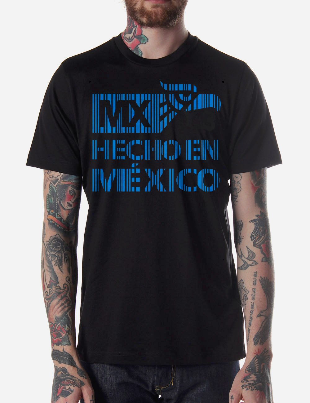 Black Men Tshirt Hecho en Mexico Black Tshirt For Men