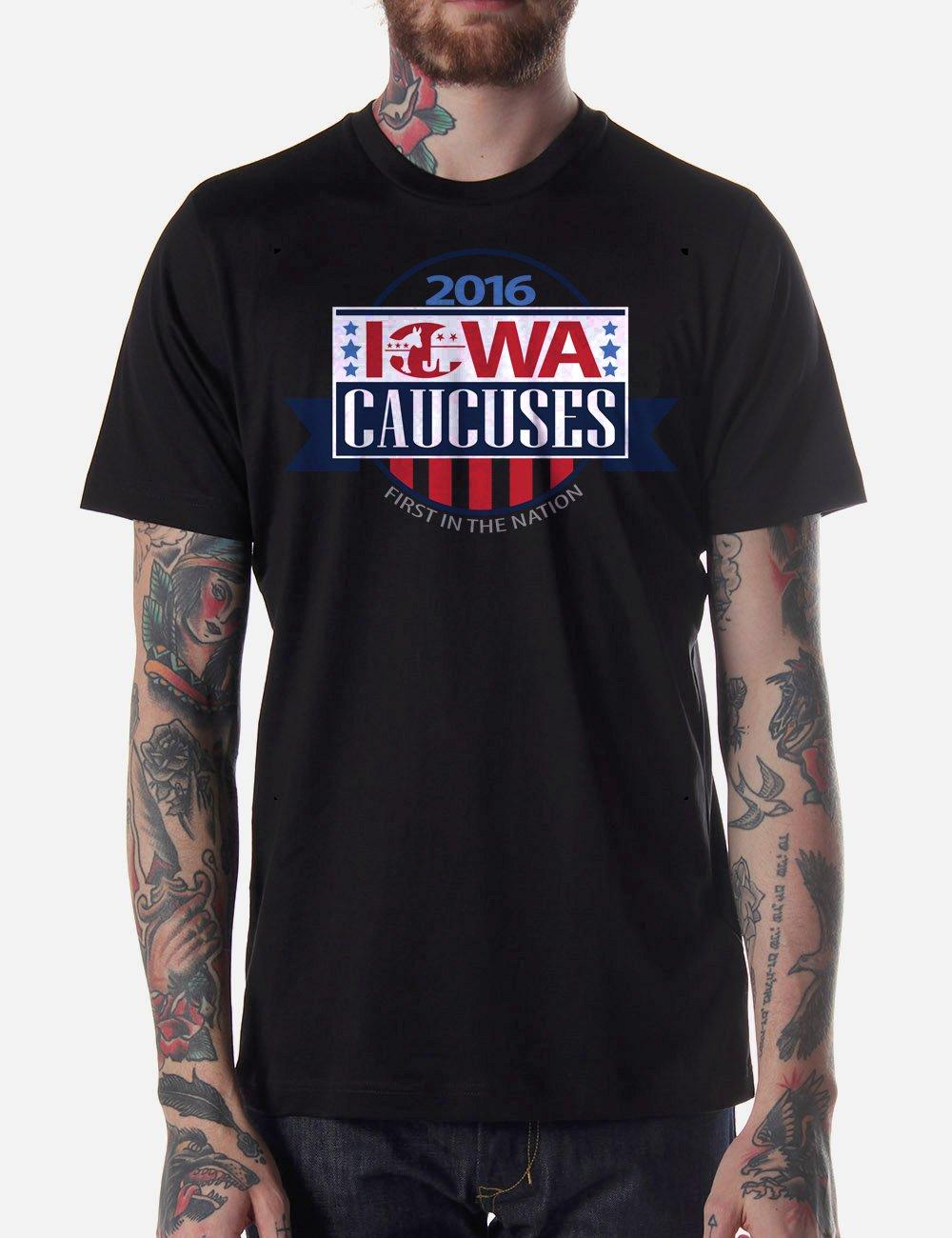 Black Men Tshirt Iowa Republican Caucus Black Tshirt For Men