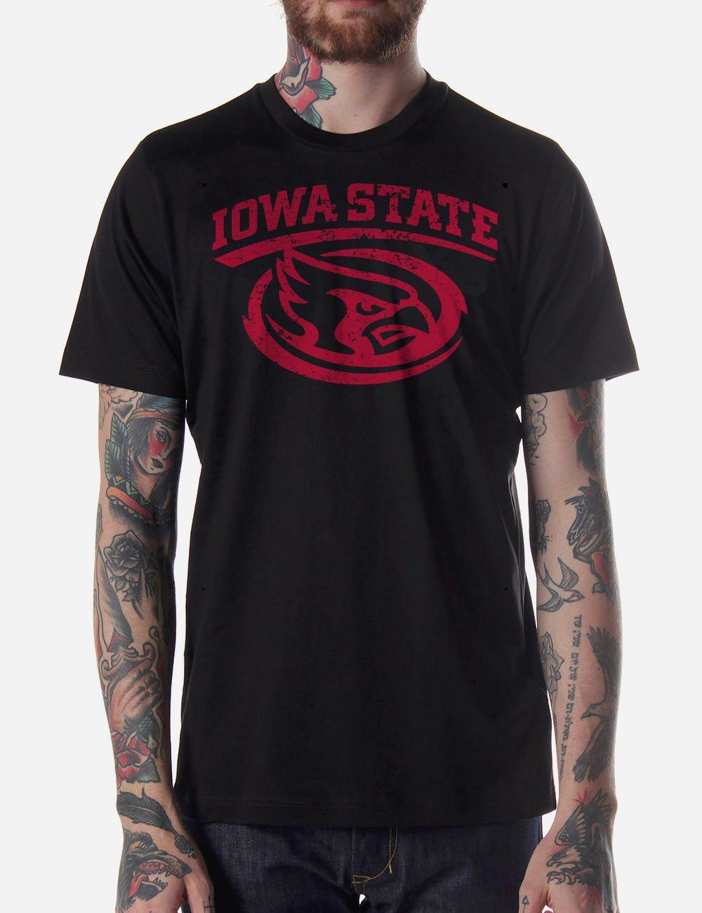 Black Men Tshirt Iowa State University Crewneck Black Tshirt For Men