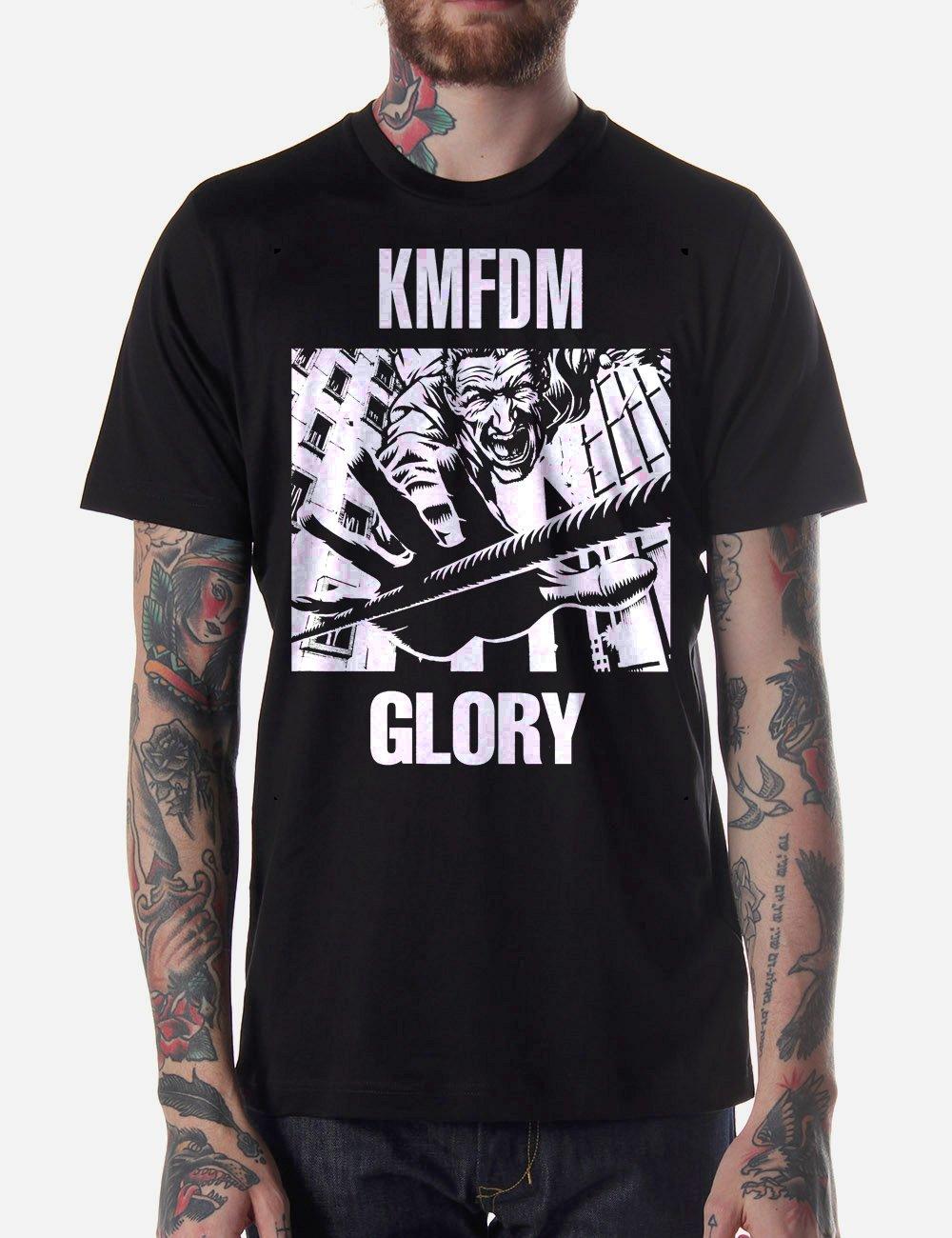 Black Men Tshirt KMFDM MORE & GLORY Black Tshirt For Men