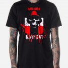 Black Men Tshirt KMFDM MORE HAU RUCK Black Tshirt For Men