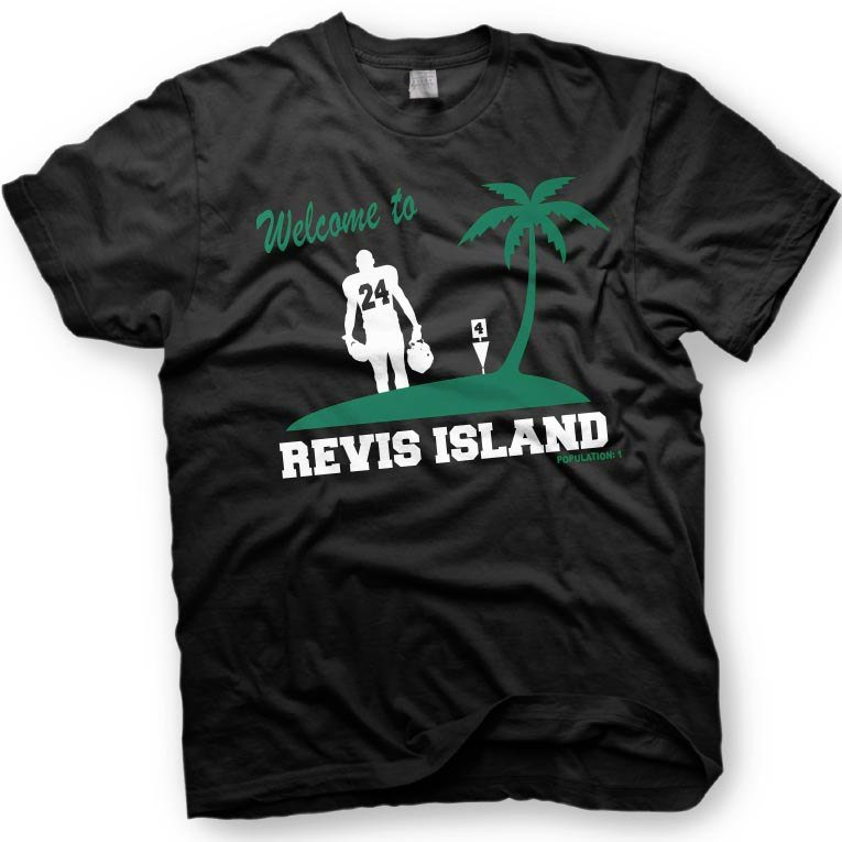Black Men Tshirt Revis Island - Darrelle Revis - New York Jets Cornerback