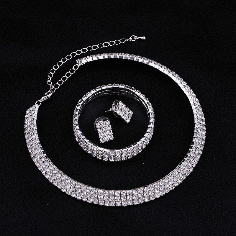 Wedding Jewelry Set �El Classic� (1 necklace, 1 bracelet and 2 earrings)