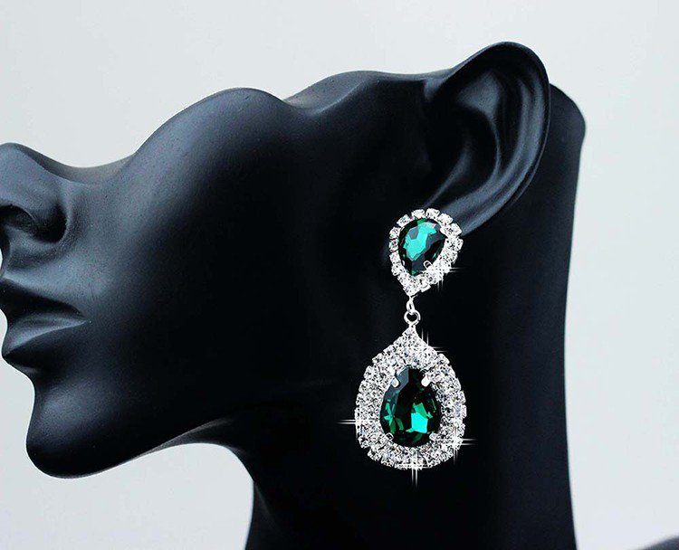Earrings �Infinity� (Green)