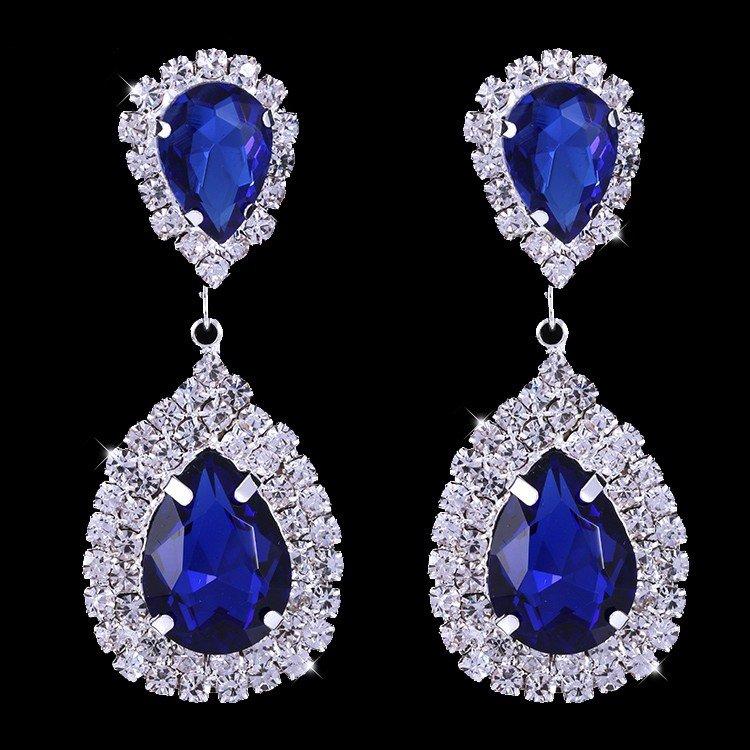 Earrings �Infinity� (Blue)
