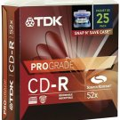 TDK PCD-R80F25 SNAP-&-SAVE PRO GRADE CD-R (25-PK)