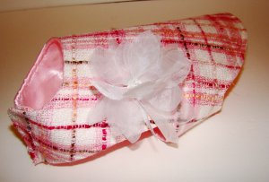 Pampered Pooch Pink Tweed and Satin Jacket