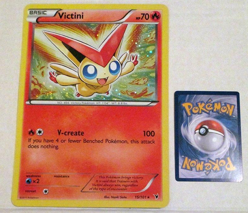 Oversized Victini Card